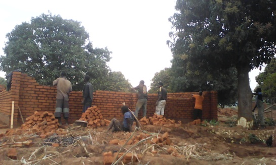 Blog Photo - Kamala-Jean school being built walls going up