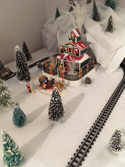 Blog Photo - BOAA Christmas village red house and track