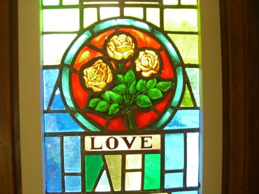 Blog Photo - St Thomas' Church LOVE stained glass