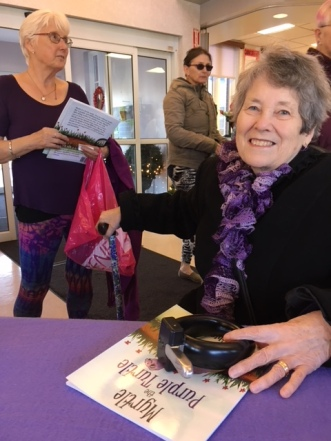 Blog Photo - BOAA - Purple Ladies waiting for book sign
