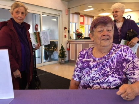 Blog Photo - BOAA - Purple Ladies waiting for books to be signed