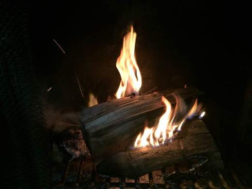 Blog Photo - Christmas 2016 - Logs Burning
