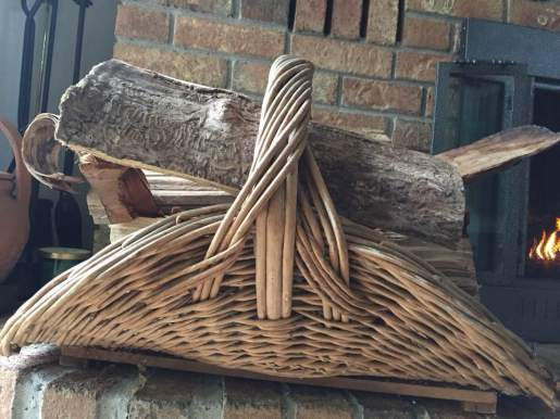 Blog Photo - Christmas Fireplace Logs in Basket