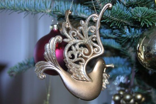 Blog Photo - Christmas Ornaments Golden Dove