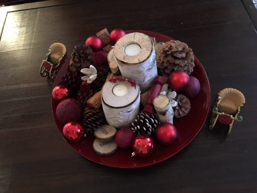 Blog Photo - Christmas plate and candles
