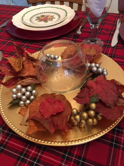 Blog Photo - Christmas Plate with leaves