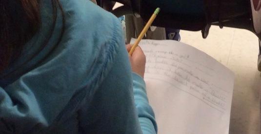 Blog Photo - School student writes