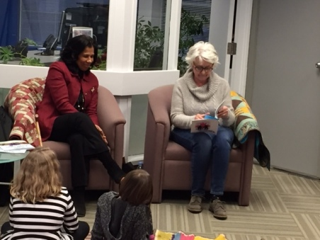 Blog Photo - Cynthia and Vikki reading at DUCA