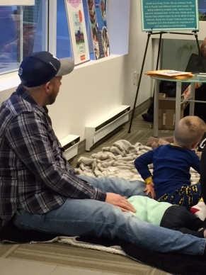 Blog Photo - Father and Children at DUCA Storytime