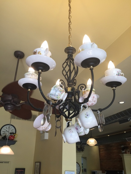 Blog Photo - Creemore bakery chandelier with cups