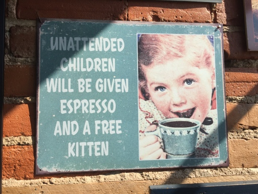 Blog Photo - Creemore brakery sign about unattended children