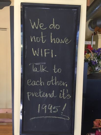 Blog Photo - Creemore sign in bakery - WIFI