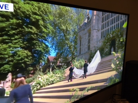 Blog Photo - Meghan Markle and page boys climb church steps