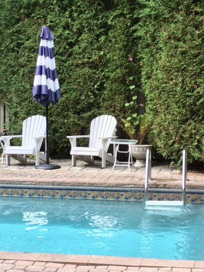 Blog Photo - garden Sept 2018 chairs and pool