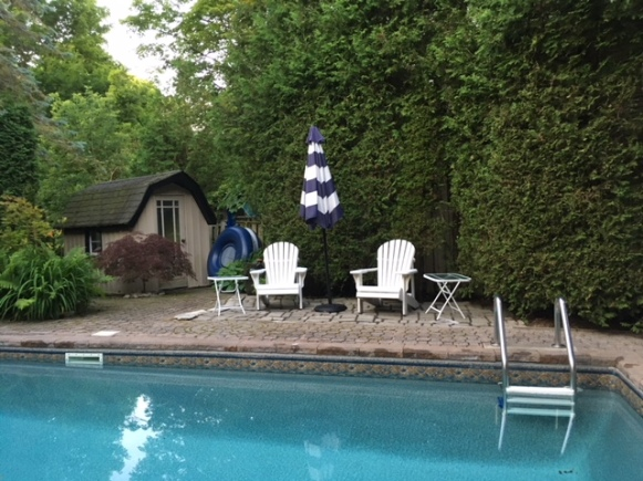 Blog Photo - Muskoka chairs and Umbrella