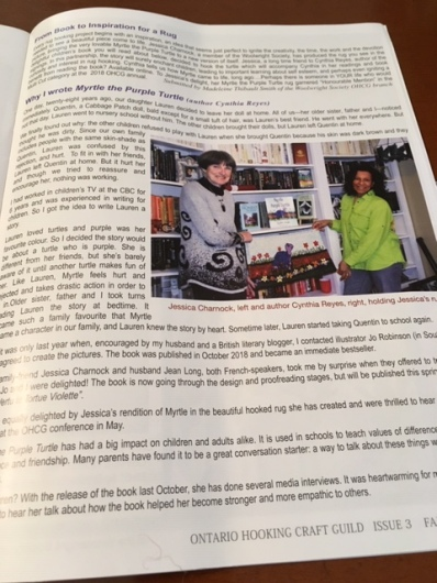 Blog Photo - Myrtle Hooked rug magazine inside story