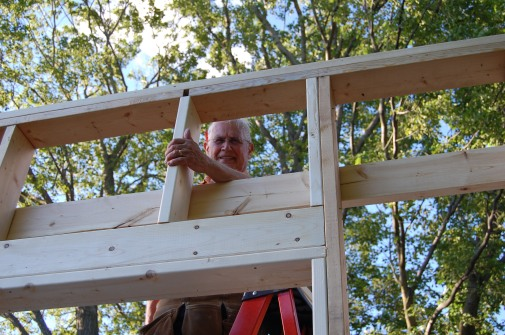 Blog Photo - Wayne at work on a new building