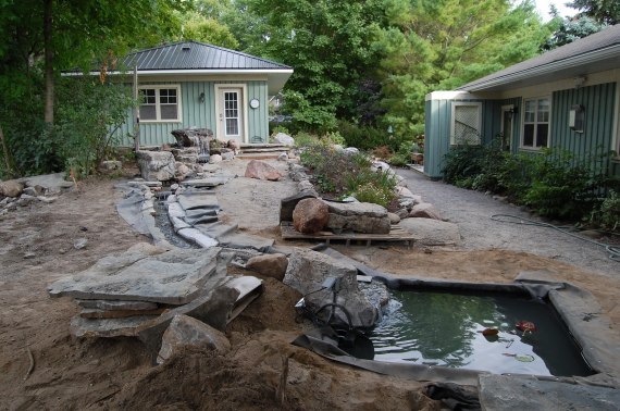 Blog Photo - Wayne's fountain and stream and two ponds