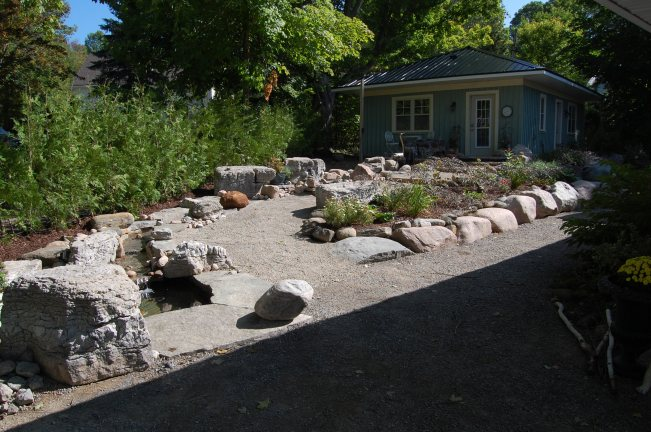 Blog Photo - Wayne's Fountain with stream and ponds and garden bed