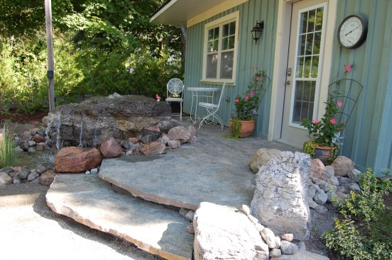 Blog Photo - Wayne's Foutain finished Product with patio and steps
