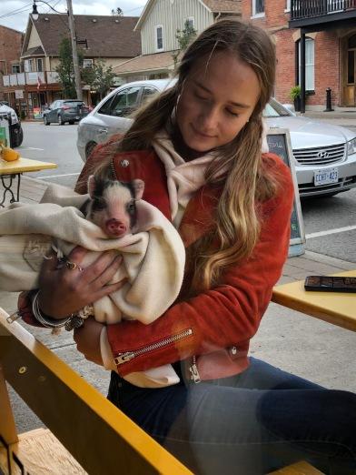 Blog Photo - Autumn girl with Pet Pig
