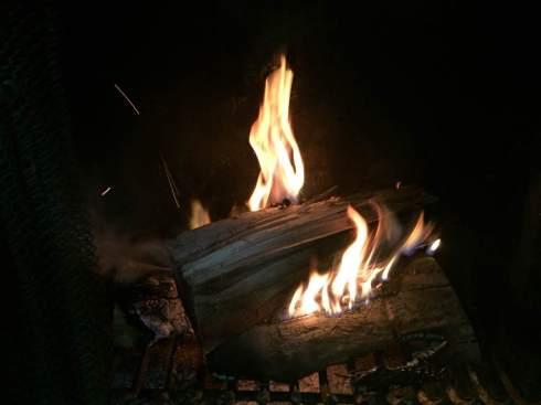 Blog Photo - Christmas 2016 - Logs Burning