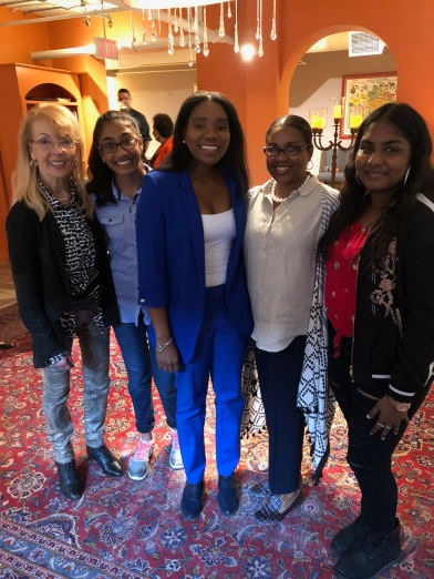 Blog Photo - Tiffany with Isabel, Velma and Students Gurleen and Shntia