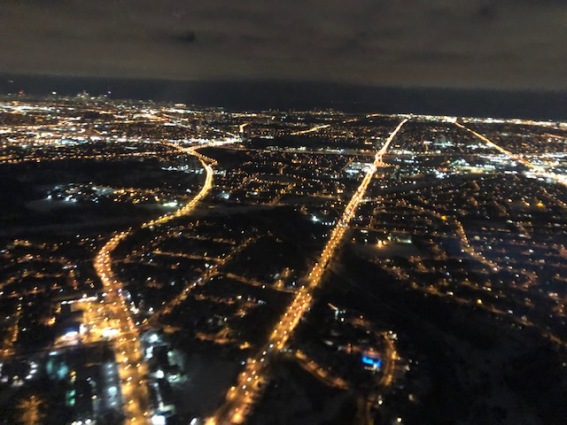 Blog Photo - Toronto from an airplane - credit Hamlin Grange