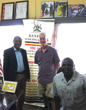 Blog Photo - CanUgan - Jack with Mayor & Dep Mayor of Kasese