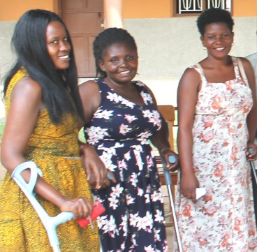 Blog Photo - CanUgan - Women with crutches and cane