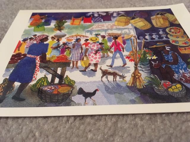 Blog Photo - Greeting Card - Market scene