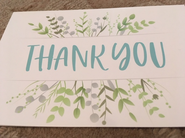 Blog Photo - Greeting card Thank you