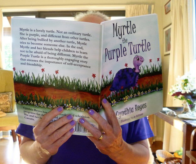 Blog Photo - Myrtle Fan and her Purples