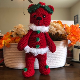 Blog Photo - Darcy Christmas Bear red