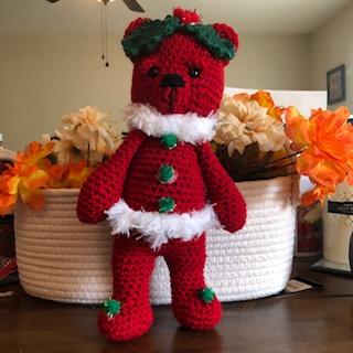 Blog Photo - Darcy Christmas Bear red