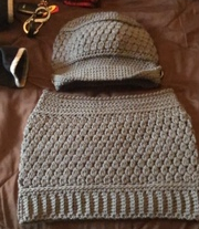 Blog Photo - Darcy hat and scarf grey