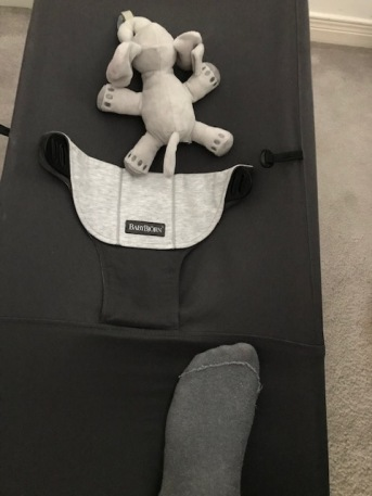 Blog Photo - Baby bouncer and my left foot2