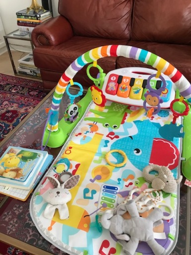 Blog Photo - Baby mat and mobile on coffee table